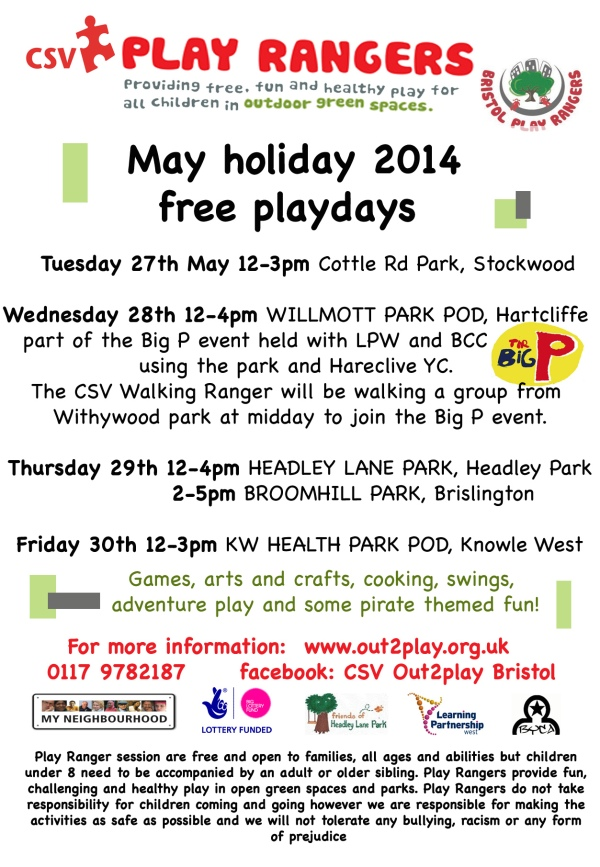 May school holiday Play Ranger activities!